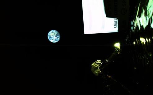 """ד""""ש מהחלל: תמונות שהתקבלו ממצלמת הסלפי של החללית """"בראשית"""""""