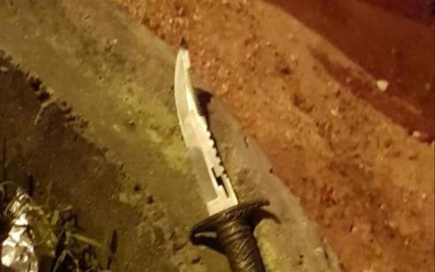 """נעצר מחבל שיידה לעבר כוח צה""""ל סכין בתקוע הערבית – אין נפגעים"""