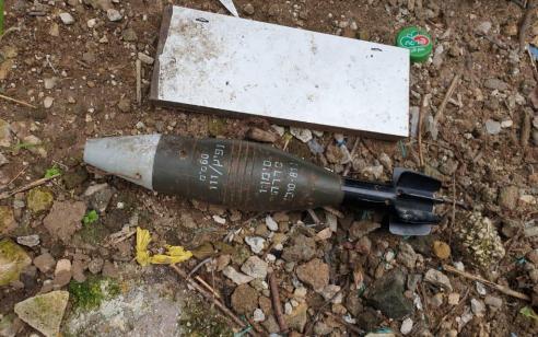 פצצת מרגמה שנורתה אתמול מרצועת עזה נמצאה בשטח פתוח באשכול