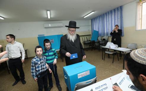 """בחירות 2019: ליצמן הצביע כעת בקלפי ברחוב עזרת תורה בירושלים: """"הצבעתי ג' כהוראת רבותינו. צאו להצביע ואין מקום לשאננות"""""""