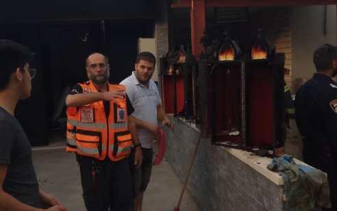 ספרי תורה עלו באש בשריפה שפרצה בבית כנסת בטבריה – אין נפגעים