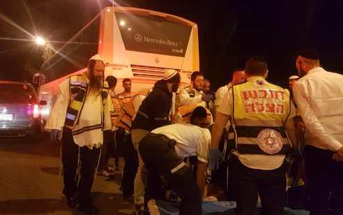 הולך רגל נהרג מפגיעת מאוטובוס בכניסה למירון