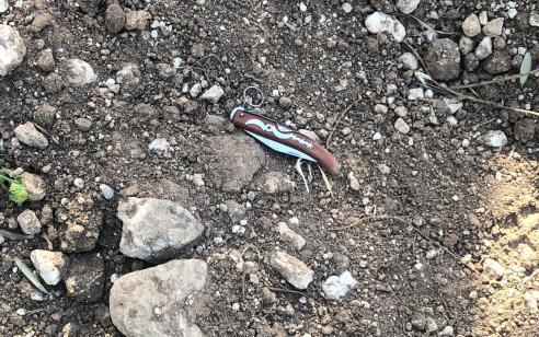ערבי שניסה להימלט על טרקטורון בסמוך לתרקומיא נעצר לאחר מרדף רגלי בעת ששלף סכין לעבר הלוחמים