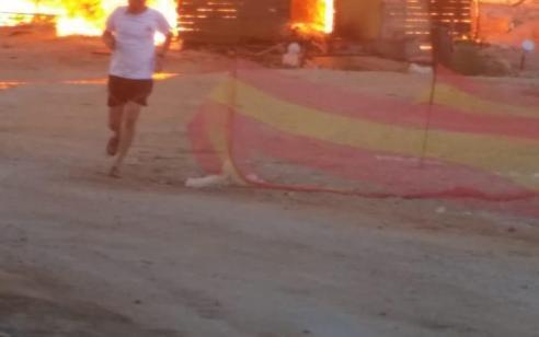 אוהל נשרף כליל והתפשט למבנה בישוב ספיר – אין נפגעים