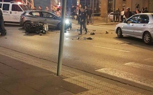 רוכב אופנוע נפגע מרכב בראשון לציון – מצבו בינוני