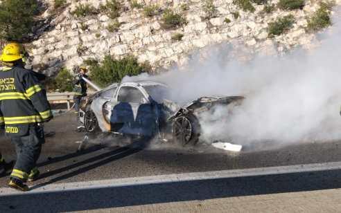 שני פצועים קשה ובינוני בפיצוץ רכב בנצרת עילית – מדובר בתאונה עצמית