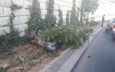 רוכב אופנוע בן 35 נפצע קשה בתאונה עצמית בירושלים
