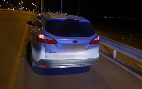 עירנות השוטרים ביאה למעצר נהג בן 19 ללא רישיון נהיגה בגילופין, כשהוא מבצע עבירה של חציית קו הפרדה רצוף