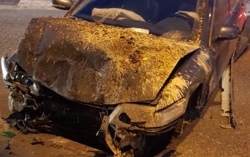במהלך מרדף אחרי רכב שנסע במהירות, נהג הרכב איבד שליטה והתנגש ברכבים בצומת ערה – החשוד נעצר