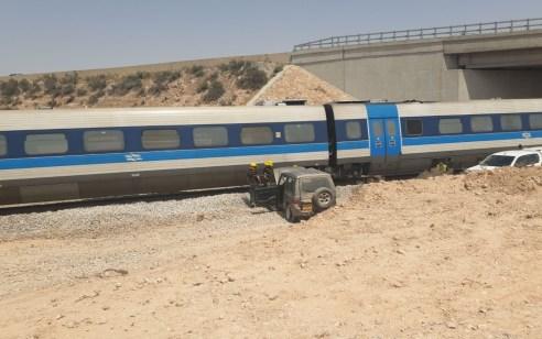 רכבת פגעה ברכב שטח שננטש בשטח המסילה בין באר שבע לדימונה – אין נפגעים