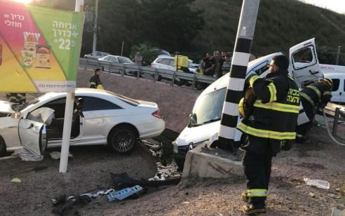 אישה בת 60 נהרגה ו- נפצעו בתאונה בין שלושה רכבים בכביש 70 סמוך לצומת יסעור