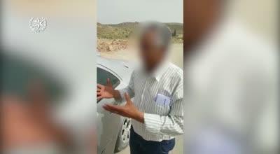 תיעוד: נהג ערבי נעצר כשברכבו הפרטי אותרו 11 נוסעים, בהם 6 תינוקות ללא התקני ריסון