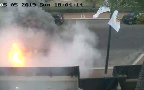 צפו: הפגיעה הישירה אתמול באשדוד ממצלמות האבטחה