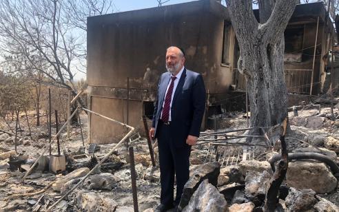 ראש הממשלה נתניהו ושר הפנים דרעי אישרו 4.5 מיליון שקלים לשיקום היישובים שנפגעו בשריפות