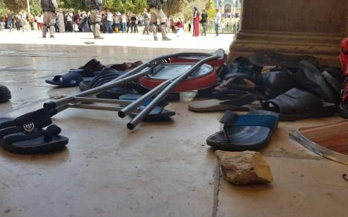 התחדשו העימותים בהר הבית: המשטרה החלה לפזר את המתפרעים ומשתמשת באמצעים לפיזור הפגנות