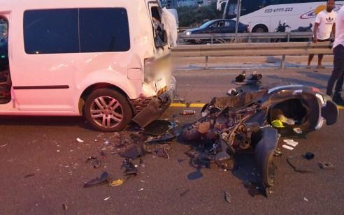 רוכב אופנוע נפצע בינוני בתאונה בכביש 471 סמוך למחלף שעריה