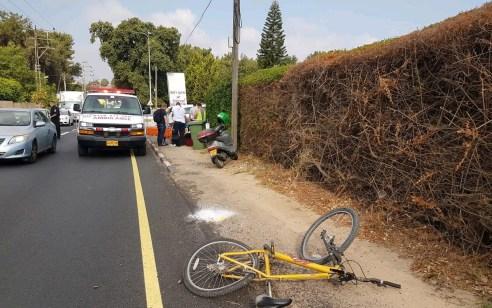 רוכב אופניים כבן 30 נפגע מרכב בפרדס חנה ונפצע בינוני