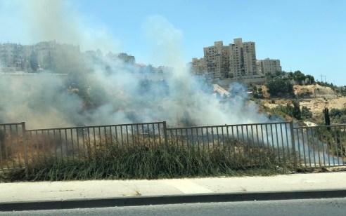צוותי כיבוי גדולים ומטוסים פעלו בשריפת חורש בליפתא בסמוך לכניסה לירושלים – תיעוד