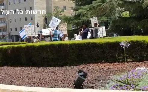 צפו: הפגנה של עולי אתיופיה מול הסוכנות היהודית בירושלים