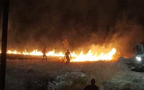 3 שריפות פרצו בעוטף עזה, אחת מהם נבדקה וגורם השריפה – בלון תבערה