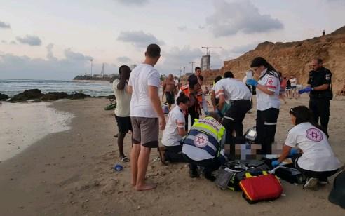 גבר כבן 50 טבע למוות בחוף שדות ים סמוך לקסריה