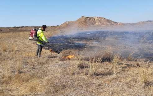 למרות ההסדרה: שריפה מבלון תבערה פרצה בבארי