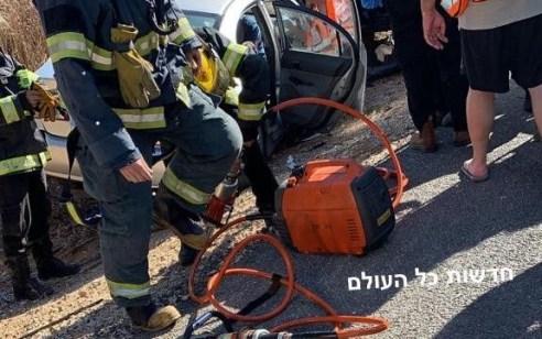 פצועים בינוני וקל בתאונה בין שני רכבים בכביש 553 סמוך לפורת