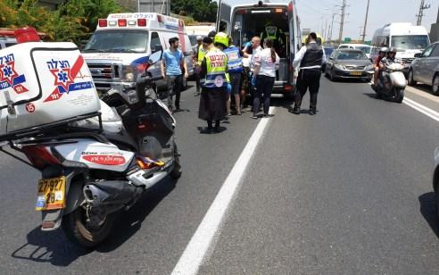 גבר כבן 50 נפל מגובה בכביש 4 גשר גבעת שמואל – מצבו בינוני