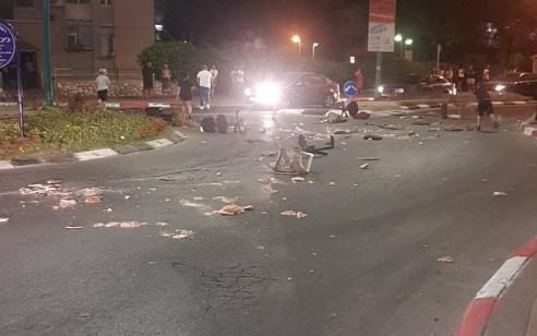 רמלה: עימותים אלימים במהלך מחאה על מותו של רוכב אופנוע לאחר שהתנגש ברכב משטרה – 4 חשודים נעצרו | תיעוד