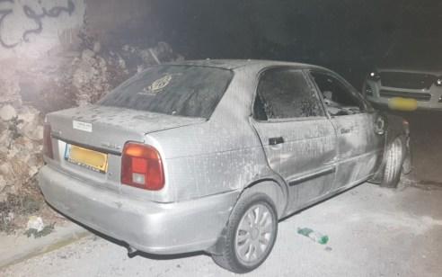 כתב אישור יוגש נגד ערבי בן 21 שהצית רכב בירושלים לאחר שהבחין שמצויים בו סממנים וכיתוב בעברית