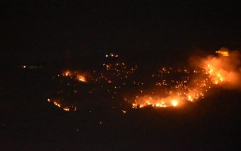 שריפת יער בהר תבור: צוותי כיבוי פועלים לעצירת התפשטות האש והגנה על קו הבתים ביישוב דבוריה