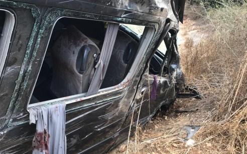 4 פצועים לאחר שרכב הסעות התדרדר לתעלה בין געתון לעין יעקב