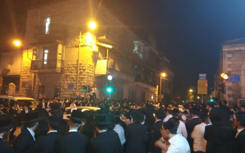 6 עצורים בהפגנות באיזור גאולה בירושלים