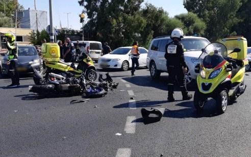 רוכב אופנוע נפצע קשה בתאונה בכביש 412