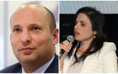 איילת שקד תודיע הערב על המשך דרכה הפוליטית: תעמוד בראש ׳הימין החדש׳