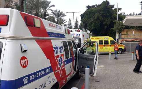 רוכב אופנוע כבן 17 נפצע בינוני בתאונה ברמת גן