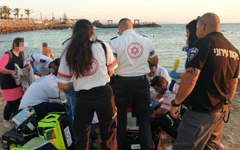 אישה בת 63 טבעה בחוף גלי גליל בנהריה – מצבה קשה