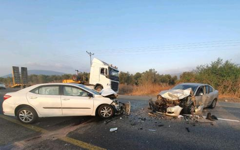 שני פצועים בינוני וקל בתאונה בין שני כלי רכב בכביש 65 משדה אילן לכיוון כפר תבור
