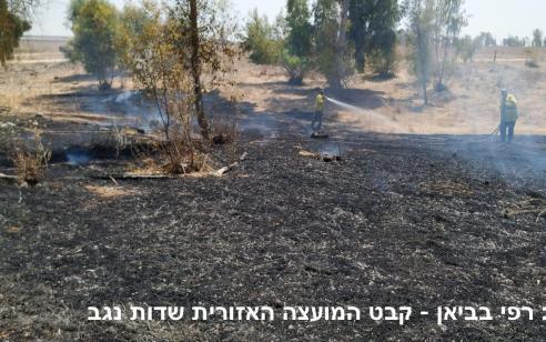 טרור הבלונים: שתי שריפות פרצו בעוטף עזה – אחת נגרמה מבלון
