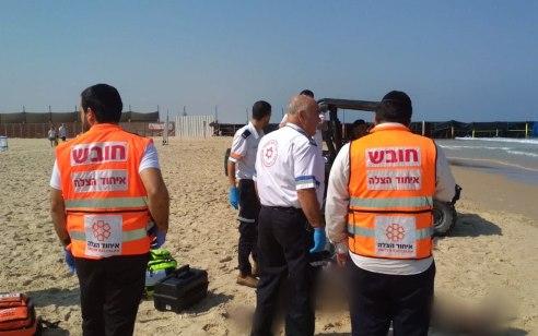 גבר כבן 50 טבע למוות בחוף גיל באשדוד