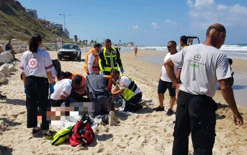 גבר כבן 60 טבע למוות בחוף לא מוכרז בנתניה