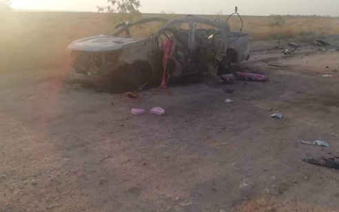 """דיווחים בעיראק: 6 פעילים בהם מפקד שטח חוסלו בתקיפת מל""""ט לעבר שני כלי רכב של גדודי חיזבאללה בגבול עיראק סוריה"""