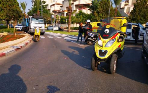 בן 60 נפצע קשה בתאונת פגע וברח באור יהודה – הנהג הפוגע הסגיר עצמו אחרי כשעה
