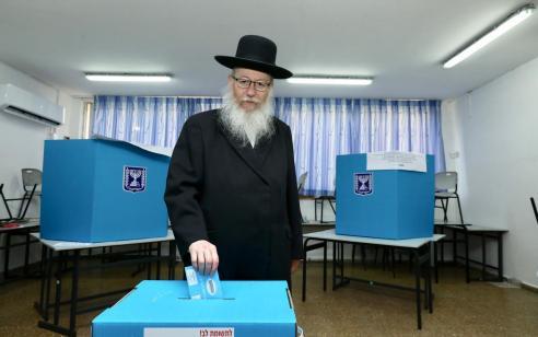 """ליצמן לאחר ההצבעה בקלפי: """"אנו ביום גורלי וקריטי למדינת ישראל – אני קורא לכולם להישמע לקול גדולי ישראל"""""""