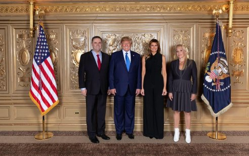 נשיא ארה״ב דונלד טראמפ לשר החוץ ישראל כ״ץ – ״מה יהיה עם המצב הפוליטי בישראל?