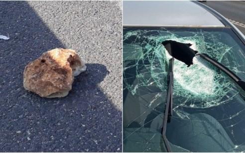 קצין בחופשה נפצע בינוני מזריקת אבנים בפניו סמוך למעלה שומרון – צפו