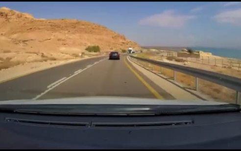 אותרה נהגת הרכב שתועד עוקף בדרך לא פנויה וכמעט גורם לתאונה חזיתית בכביש 90