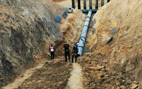 המשטרה עצרה ארבע חשודים בגרימת מוות ברשלנות בתאונת עבודה אתמול סמוך ליישוב באר גנים
