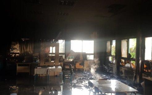 גן ילדים ברמת טבעון עלה באש – אין נפגעים