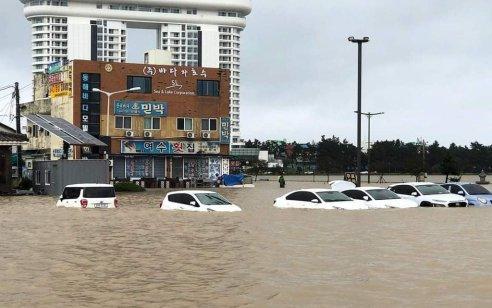 6 בני אדם נהרגו על ידי סופת טייפון מיטג' מדרום קוריאה